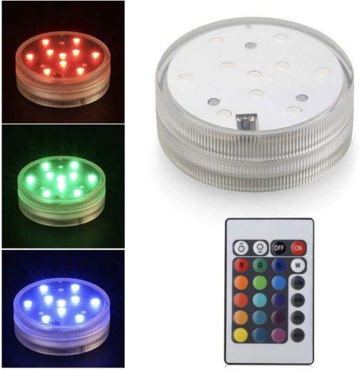 acrylic shisha led light with remote